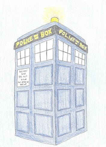 Tardis sketch 2:8:14 Edited
