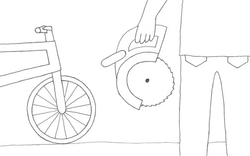 Bicycle and circular saw - edited 3:10:14