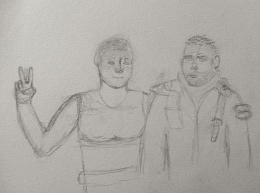Max and Furiosa, sketch