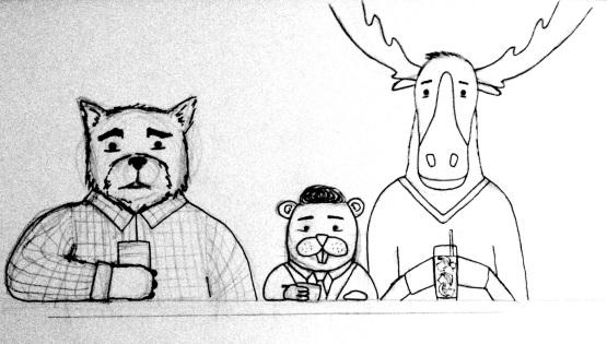 A bear, a beaver and a moose copy